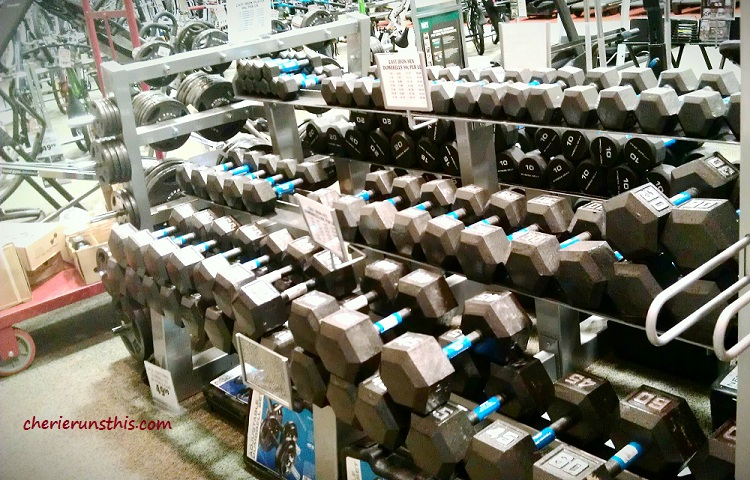dumbbells free weights rack