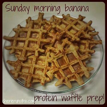 banana protein waffles